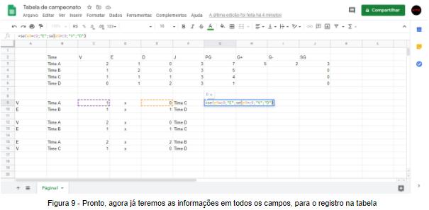 Figura 9 - Pronto, agora já teremos as informações em todos os campos, para o registro na tabela