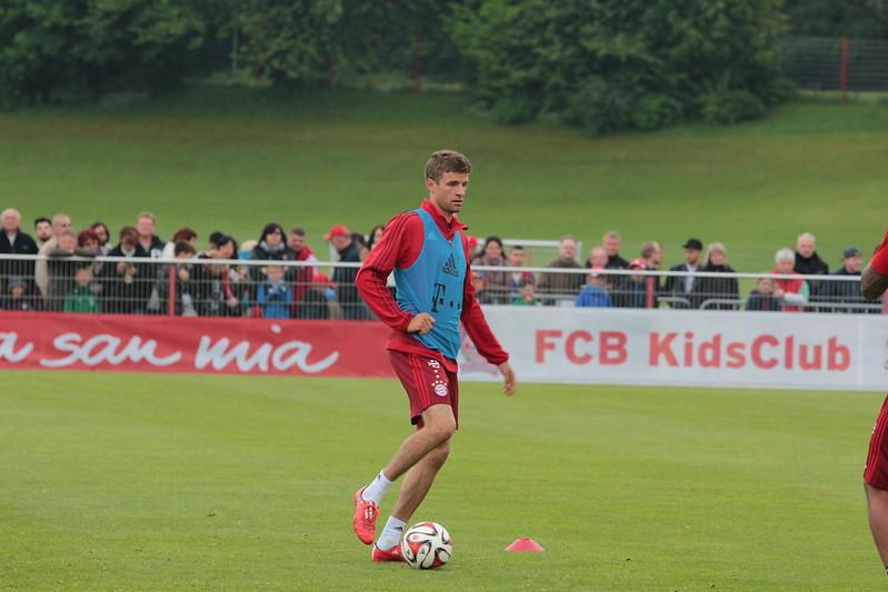Thomas Muller durante o treino